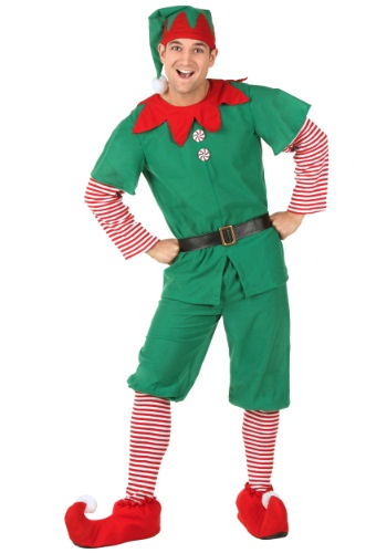 Adult Holiday Elf Costume Bestcostumes Com