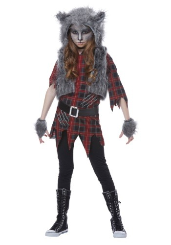 Werewolf Costume for Girls  sc 1 st  BestCostumes.com : kids fierce werewolf costume  - Germanpascual.Com